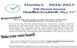 ESE Parent Survey